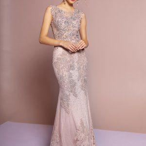 Scoop Neck Lace Sleeveless Prom Dress GSGL2616